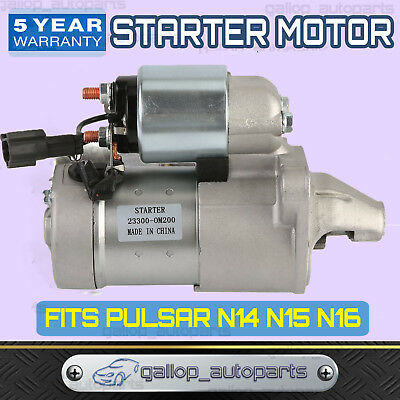 New Starter Motor Fit for Nissan Pulsar N14 N15 N16 1.6L 1.8L Petrol
