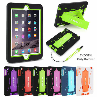 KIDS DEFENDER SHOCKPROOF STAND CASE COVER RUBBER FOR APPLE iPad 4 3 2 Mini Air