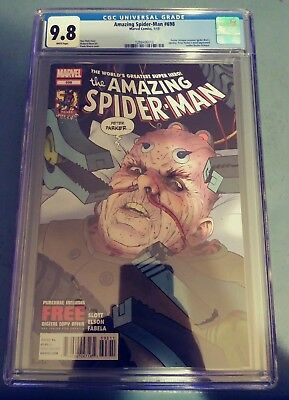 Amazing Spider-Man 698 CGC 9.8 WHITE Pages Near Mint NM
