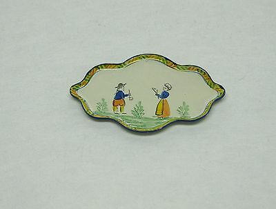 Dollhouse Miniature Hand Painted Quimper Small Tray from England