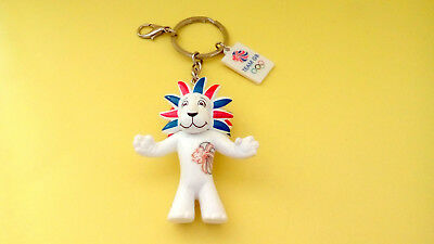 Rare Ancien Porte Cle Lion Mascotte Team Gb