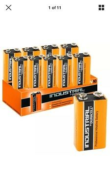 10x Duracell 9V INDUSTRIAL Alkaline Battery, Good For Smoke Alarms