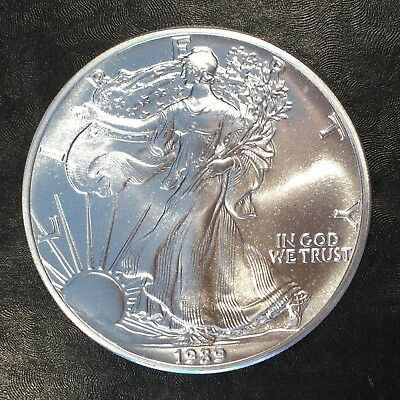 1989 Uncirculated American Silver Eagle US Mint Issue 1oz Pure Silver #G057