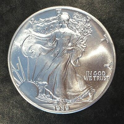 1989 Uncirculated American Silver Eagle US Mint Issue 1oz Pure Silver #G064