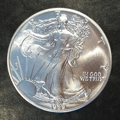 1989 Uncirculated American Silver Eagle US Mint Issue 1oz Pure Silver #G060