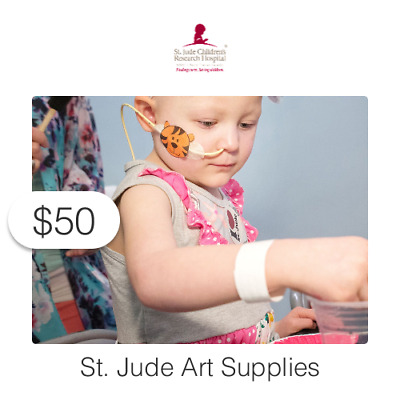 $50 Charitable Donation For: St. Jude Art Supplies