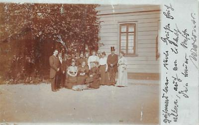 Rppc Weende Germany Family Of People Real Photo Postcard 1906