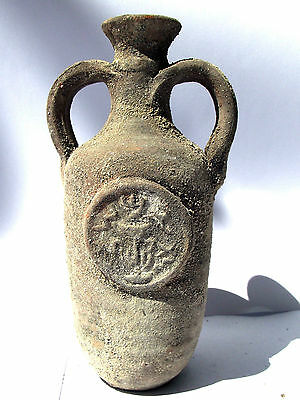 Biblical Jerusalem Antique Jar Holy Land Roman Clay Herodian Pottery Jug