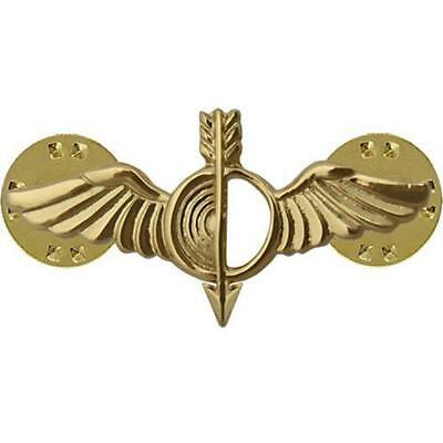 USN NAVY COLLAR DEVICE PIN ON GOLD AEROGRAPHER  (Made in USA)