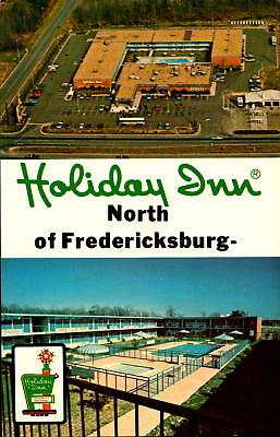 Postcard Holiday Inn North of Fredericksburg Virginia  Chrome Unused