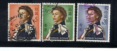 Hong Kong 3 old used stamps