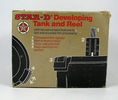 New Old Stock Star-D Developing Tank and Reel with Thermometer