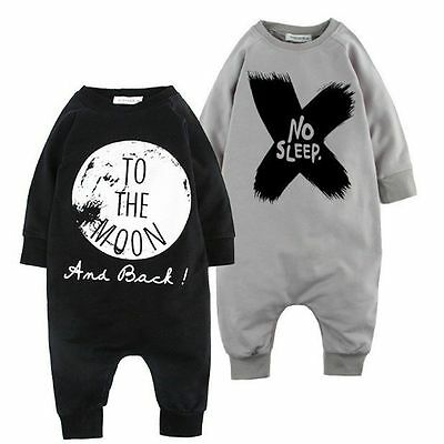 Newborn Infant Baby Boy Kid King Romper Jumpsuit Bodysuit Clothes Outfits New
