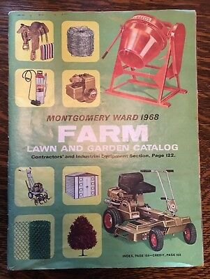 RARE vintage 1968 MONTGOMERY WARD farm catalog 166 Pg  mowers & More FARMING