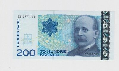 Norway Paper Money 200 Kroner choice uncirculated