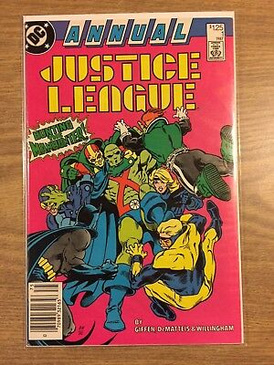 JUSTICE LEAGUE ANNUAL #1 (1987) VF to NM  DC
