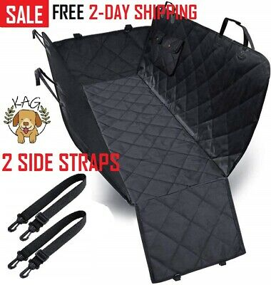 Dog Back & Front Car Seat Cover Waterproof Hammock for Pets Rear Bench SUV Truck