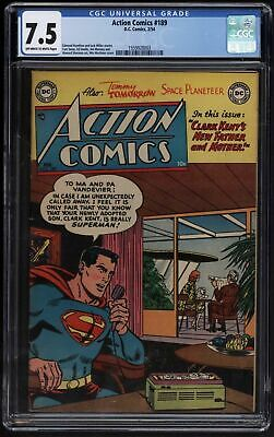 Action Comics #189 Cgc 7.5 Rare Only 19 Known Copies Ow/w Pages Perfect Case