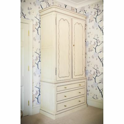 Stunning hand painted tall wardrobe linen press with drawers rrp£4800 Kings Road