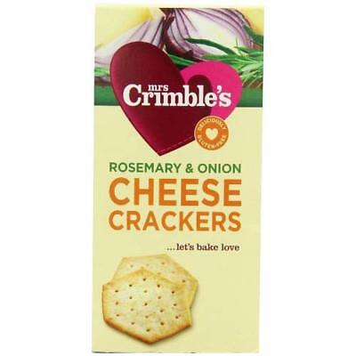 Mrs Crimble's Cheese Crackers Rosemary and Onion 130 g (Pack of 6)