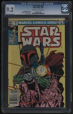 STAR WARS #68 WITH SUCH A GREAT COVER! CGC 9.2 CASE PERFECT 1st BOBA FETT!