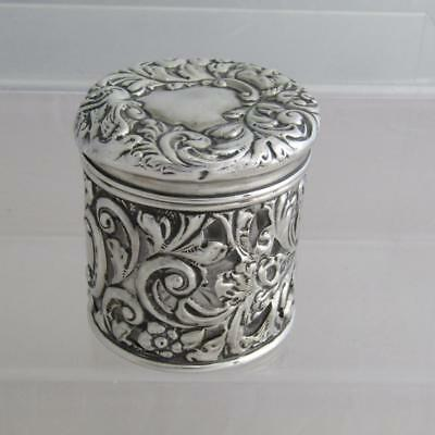 Antique Victorian Hallmarked Silver Covered Vanity Bottle - Chester c1900