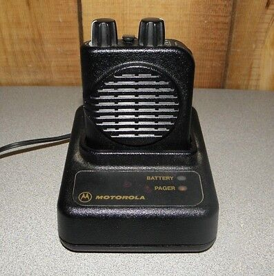 Motorola Minitor IV (4) A01KUS7238BC Low Band Single Channel Pager 44-49 MHz