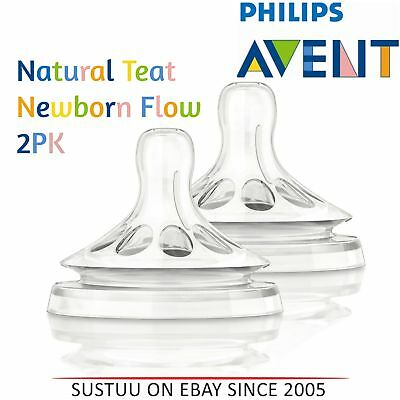 Philips Avent Natural Teat Newborn Baby Flow│BPA Free│Soft & Flexible│Anti Colic