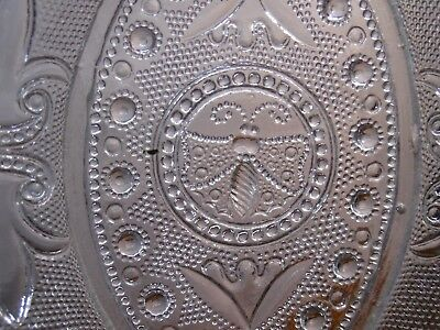 """Antique Sandwich Glass Small Bee Dish / Tray - Manufacturing Flaw As Is - 6 7/8"""""""