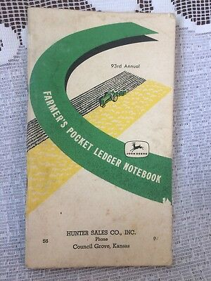 1959 1960 John Deere 93rd Annual Farmer's Pocket Ledger ~ Council Grove, Kansas