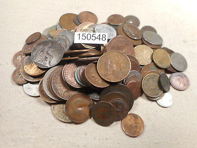 Four Pounds Five Oz (4.5 LBS) Mixed World Coins Damaged Culls Holed # 150458