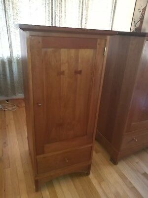 Stickley solid cherry media cabinet