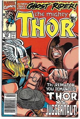 The Mighty Thor #429 Vf/nm 1991 Thor Vs Juggernaut Ghost Rider App Marvel Comics