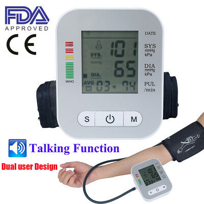 Automatic Digital Arm Blood Pressure Monitor BP Cuff Gauge Machine Sensor Tester