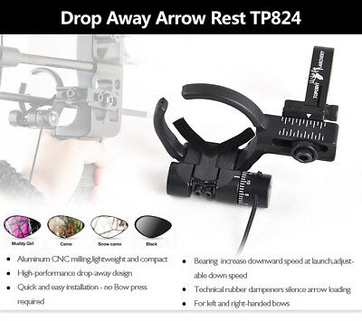 Archery Drop Away Arrow Rest for Compound Bow Left/ Right Hand Hunting Shooting