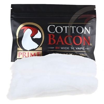 1Pack Cotton Bacon PRIME By Wick 'N' Vape Organic Wicking Material Tasteless