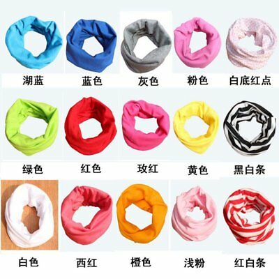 Toddler Kids Baby Neck Shawl Boy Girl Cotton Warm Scarf Neckerchief Scarves USA