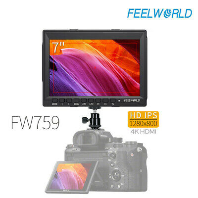 """Feelworld FW759 7""""Ultra Slim HD IPS 1280x800P Field Monitor for Camera Camcorder"""