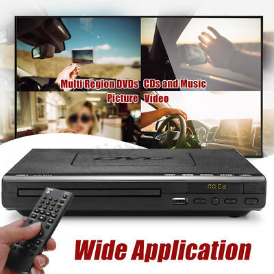 DVD Player USB Port Multiple Playback Multi-angle Viewing With Remote Controller