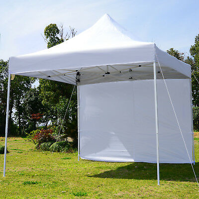 9.7 x 9.7ft Pop Up Party Tent Instant Commercial Canopy Portable Side Wall Panel