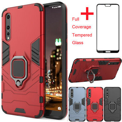 Shockproof Case Heavy Duty Stand Cover Fr Huawei P20 Pro Lite P Smart Y7 Y6 2018
