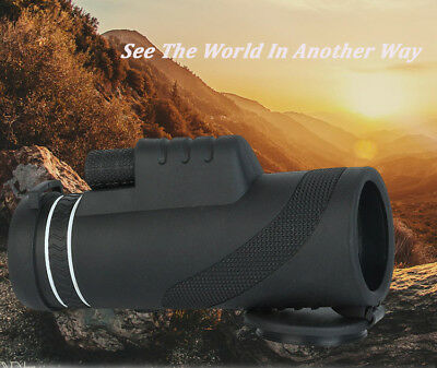 40x60 Zoomable BAK4 Monocular HD Optic Telescopes Green Film Hunting
