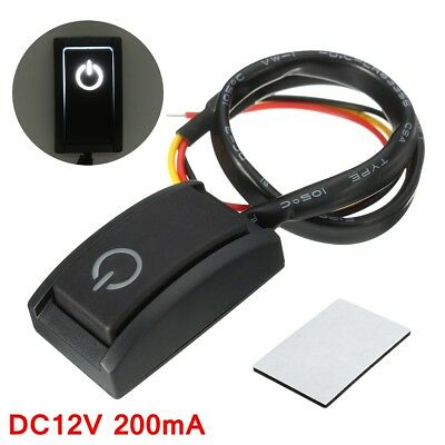 DC 12V/200mA Car DIY Push Button Latching Turn ON/OFF Switch LED Light RV TRUCK