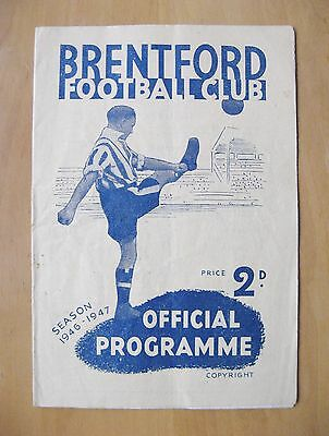 BRENTFORD v CHARLTON ATHLETIC 1946/1947 *VG Condition Football Programme*