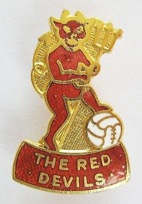 MANCHESTER UNITED - Fantastic Enamel Football Pin Badge By Coffer Red Devils
