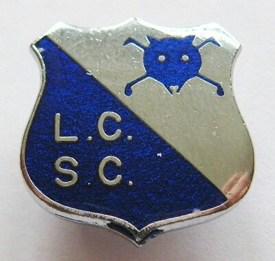 LEICESTER CITY - Superb Vintage Supporters Club Enamel Football Pin Badge