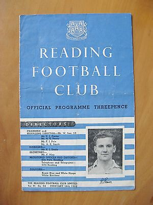 READING v WATFORD 1951/1952 *Good Condition Football Programme*