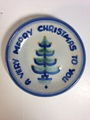 Vintage M A HADLEY Pottery A Very Merry Christmas To You Christmas Tree Dish