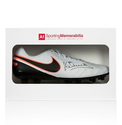 Michael Owen Signed Football Boot - Nike Tiempo - Gift Box Autograph Cleat