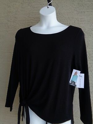 ZX Platinum by Zeroxposur  XL Knotted Bottom Light Weight Sweater Top  Msrp $70.
